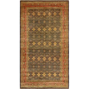 One-of-a-Kind Bronaugh Hand-Knotted 12'4 x 21'11 Wool Brown Area Rug By Isabelline