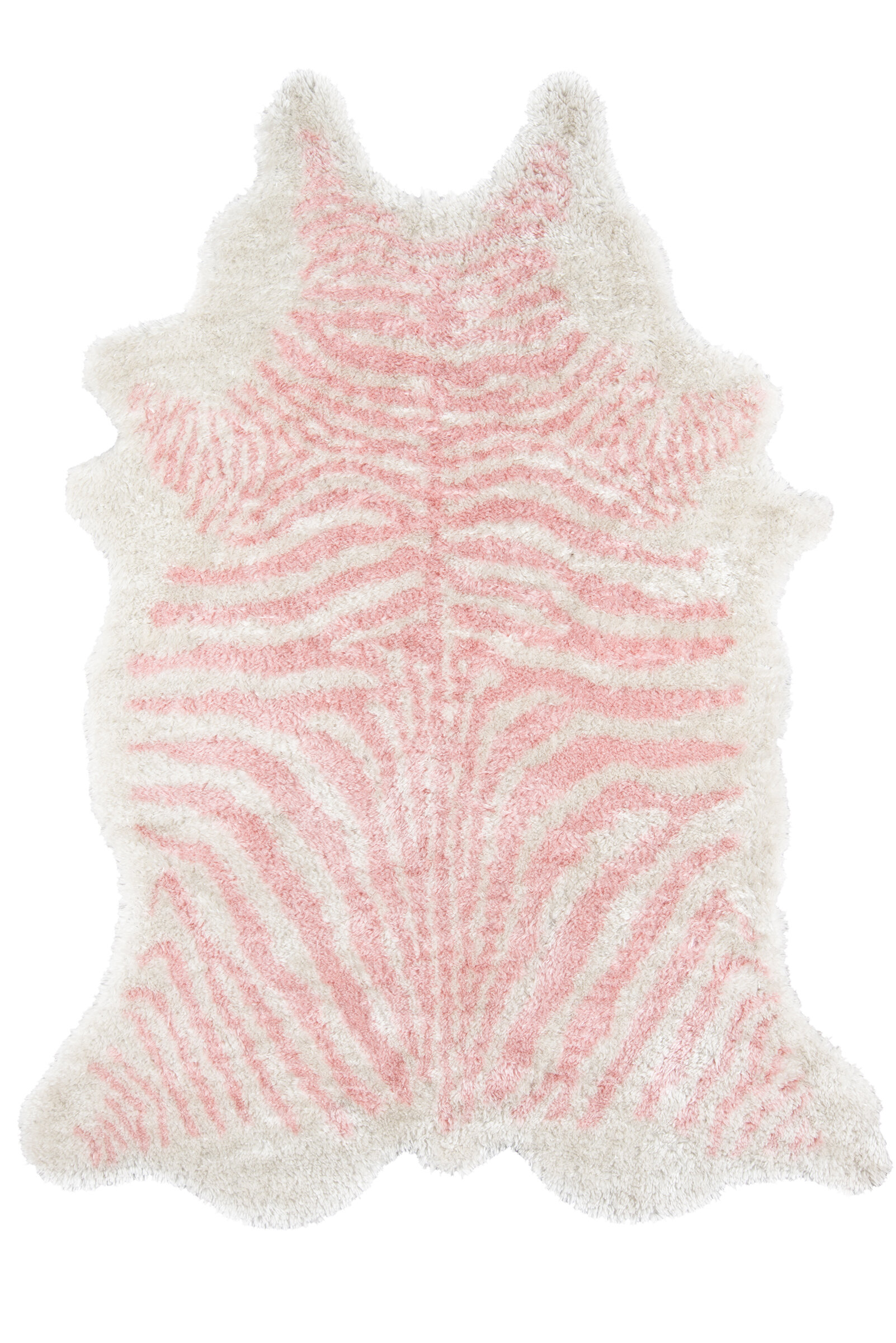 Hand Tufted Faux Fur Pink Area Rug