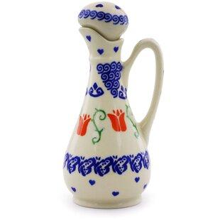 Polish Pottery Bottle 5 oz. Cruet