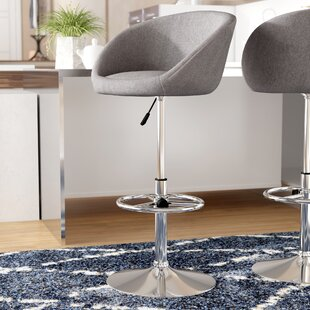 Nordin Adjustable Height Swivel Bar Stool by Orren Ellis Modern