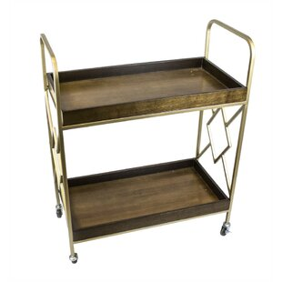 Danyel Metal Bar Cart by World Menagerie