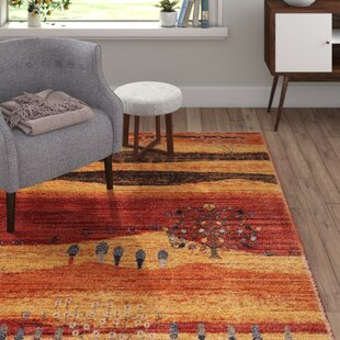 Wellersburg Red/Orange Rug by Charlton Home
