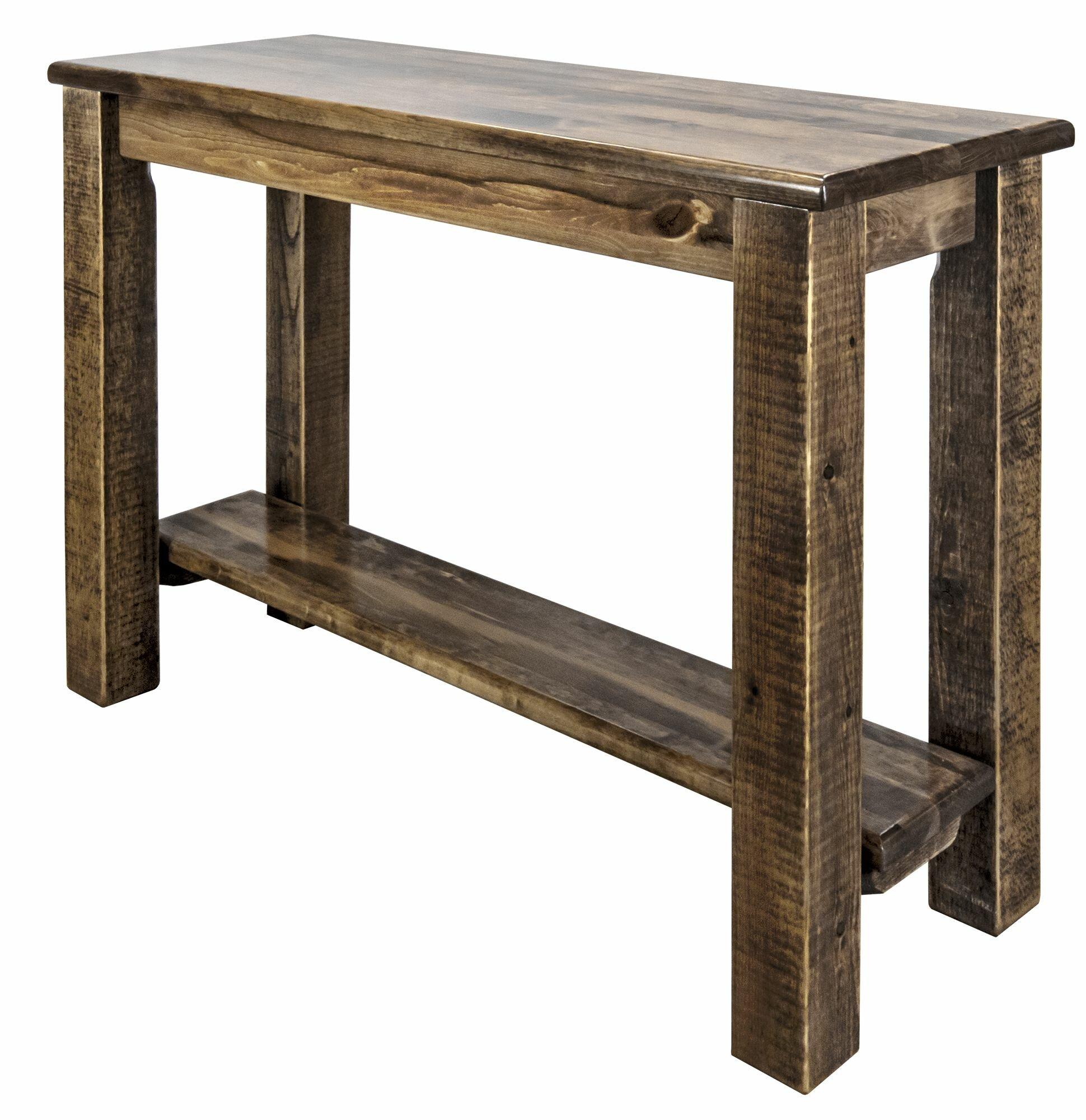 Loon Peak Abella 42 Solid Wood Console Table Wayfair