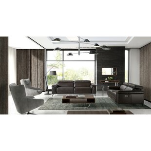 Ebeling Leather Reclining Configurable Sofa Set By Ebern Designs
