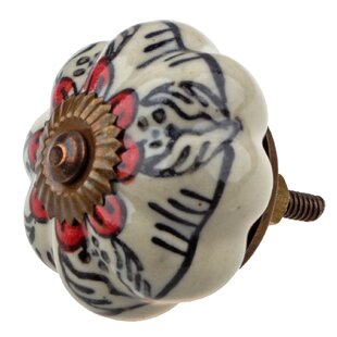 Handpainted Flower Novelty Knob (Set of 10)