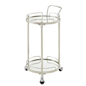Shadwell Round Mirror Bar Cart by House o..