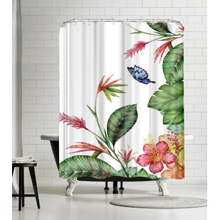 Victoria Nelson Tropical Single Shower Curtain