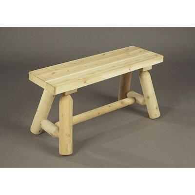 Straight Wood Garden Bench Rustic Natural Cedar Furniture Color: Natural