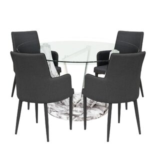 Jameel Dining Set With 4 Chairs By Wade Logan