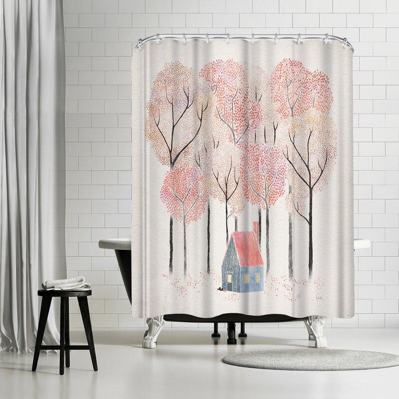 David Fleck Cabin Shower Curtain