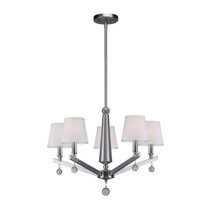 Red Barrel Studio Noblestown 5-Light Shaded Chandelier