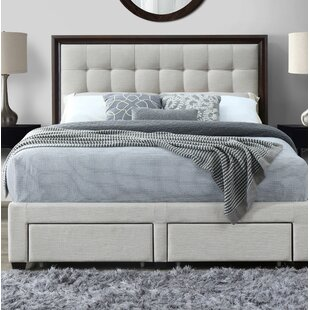 Abril Queen Upholstered Storage Panel Bed
