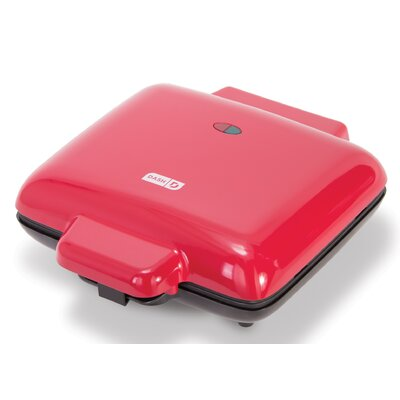 DASH No-Drip Waffle Maker  Color: Red