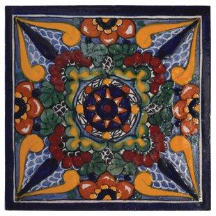 Stupendous Geraniums 6 X 6 Hand Painted Talavera Tile Machost Co Dining Chair Design Ideas Machostcouk