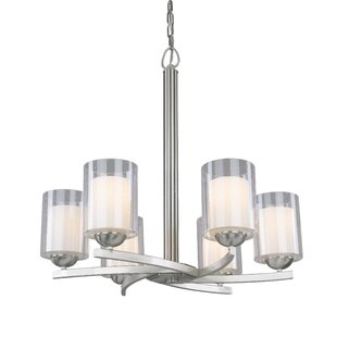 Price comparison Saver 6-Light Shaded Chandelier By Latitude Run