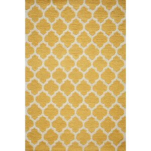 Frank Hand-Hooked Yellow Area Rug