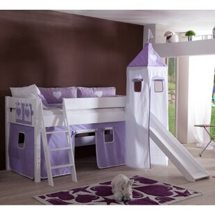 Cebes European Single Mid Sleeper Bed With Textile Set By Zoomie Kids