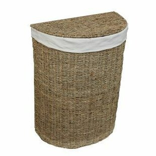 Semi Circle Wicker Laundry Basket By Brambly Cottage