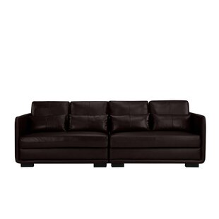 Kiana 2 Piece Convertible Leather Sofa