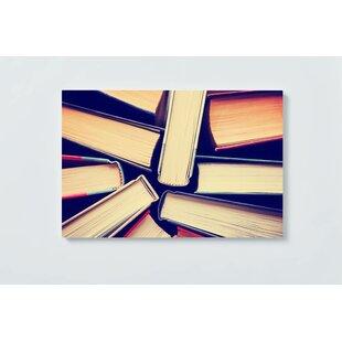 Books Motif Magnetic Wall Mounted Cork Board By Ebern Designs