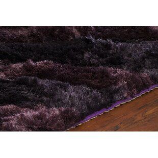 Affordable Helene Shag Purple Area Rug By Orren Ellis