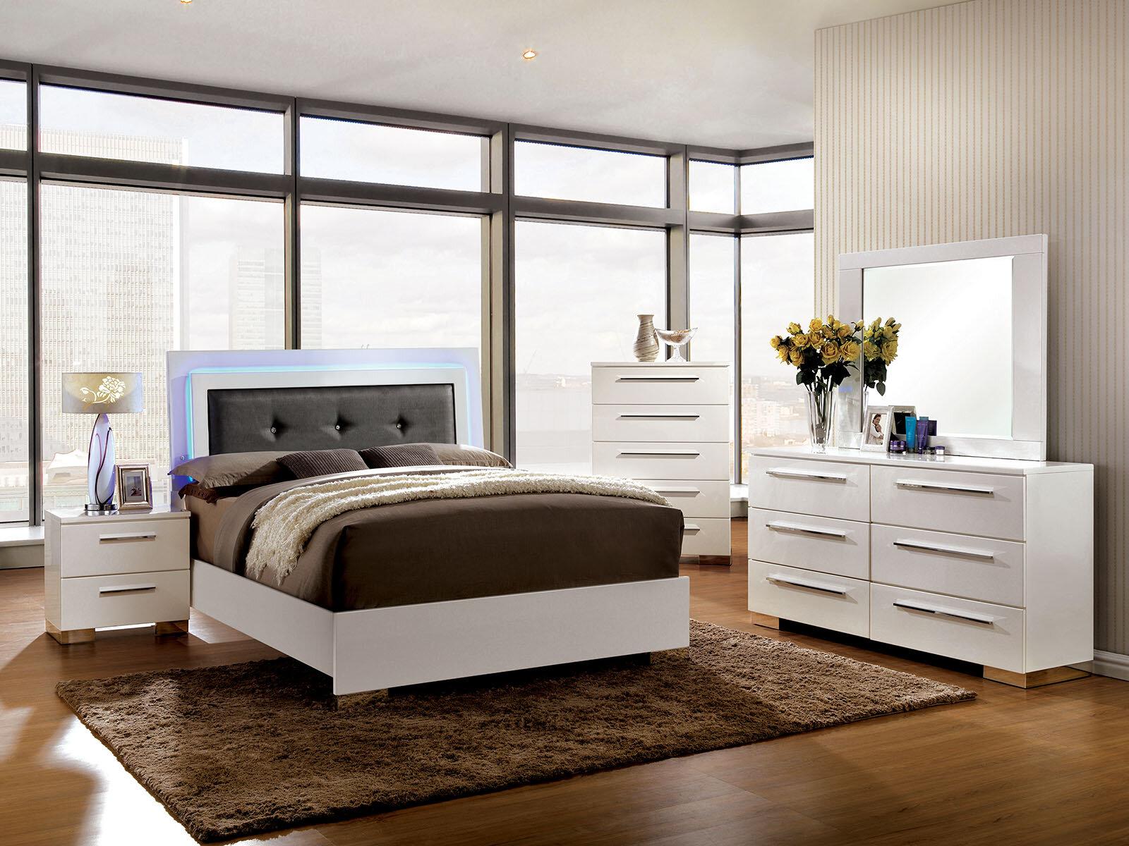 Orren Ellis Riddick Upholstered Platform Configurable Bedroom Set Reviews