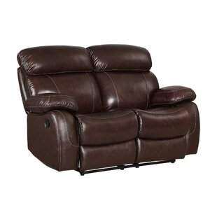 Shum Leather Power Reclining Loveseat