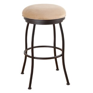 Leia 26 Swivel Bar Stool by Alcott Hillt