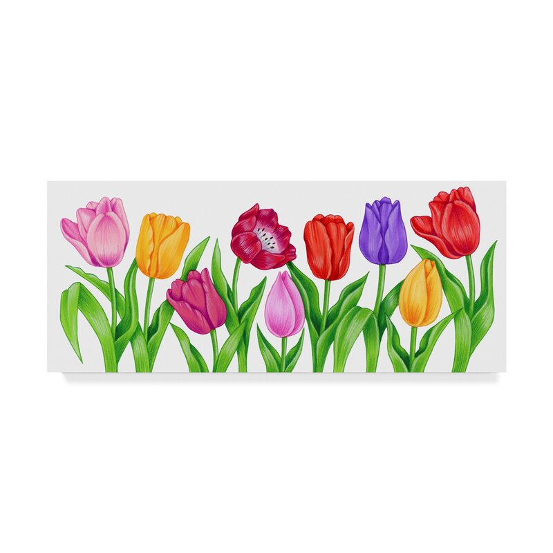 Trademark Art Floral Tulips Graphic Art Print On Wrapped Canvas Wayfair
