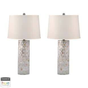 Shields Mother of Pearl Cylinder 28 Table Lamp (Set of 2)