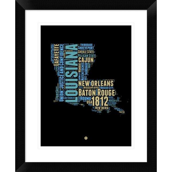 Naxart Louisiana Word Cloud 1 Picture Frame Textual Art Print On Paper Wayfair