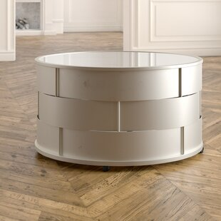 Cliburn Barrel Coffee Table by House of Hampton Sale
