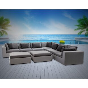 Malani 9 Piece Sunbrella Sectional Seating Group with Sunbrella Cushions