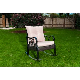 August Grove Mcgrail Rocking Chair with Cushions
