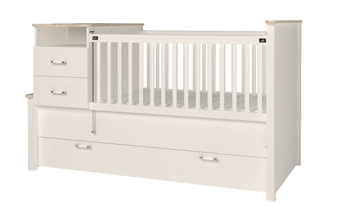 Bayside Baby Extendable Crib and Changer Combo