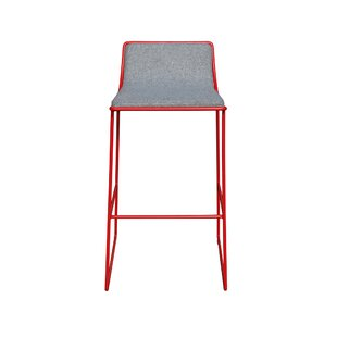 Noelani Wool and Metal 29 Bar Stool Wrought Studio