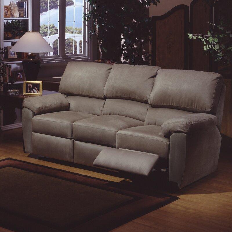 vercelli leather reclining sofa