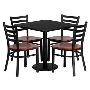 Lomonaco 5 Piece Dining Set Winston Porter