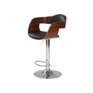 Princeton Height Adjustable Swivel Bar Stool By George Oliver