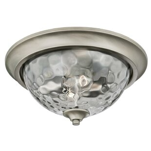 Bargain Manalapan 2-Light Flush Mount By Latitude Run