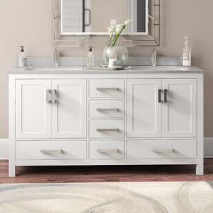 Affordable Price Sheffield 60 Double Bathroom Vanity Set ByWyndham Collection