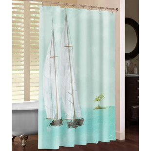 Reviews Tropical Sailboats Shower Curtain By Laural Home