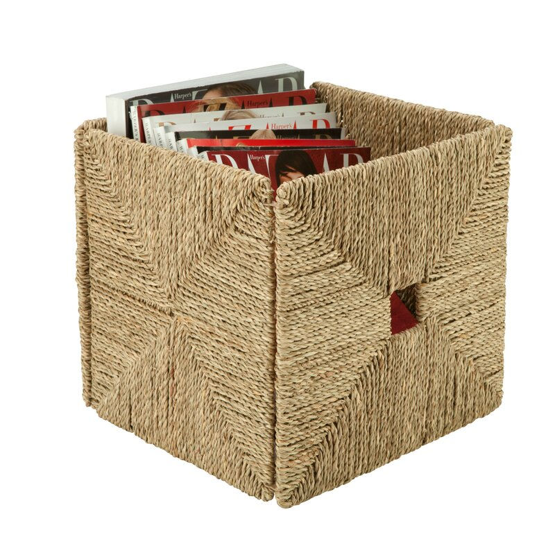 Charmant Folding Seagrass Storage Basket