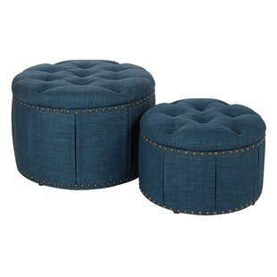 Kardos 2 Piece Storage Ottoman by Alcott Hill