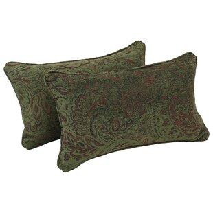 Corded Floral Lumbar Pillow (Set of 2)