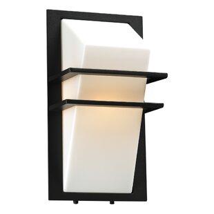Check Prices Knaresborough 1-Light Outdoor Flush Mount By Ebern Designs