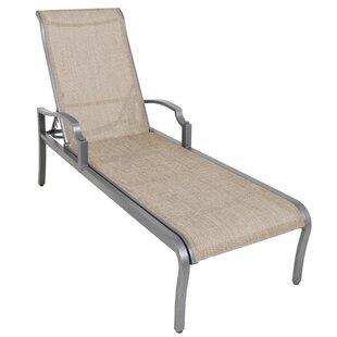 Red Barrel Studio Konevsky Aluminum Poolside Sling Reclining Chaise Lounge