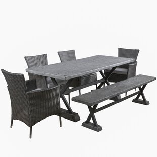 Trent Austin Design Blagnac 6 Piece Dining Set with Cushions