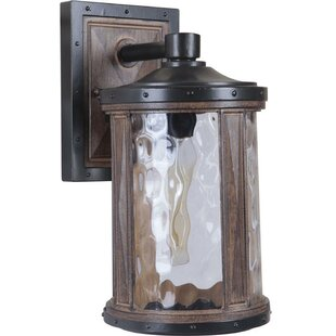 Compare prices Deirdre 1-Light Outdoor Wall Lantern By Loon Peak