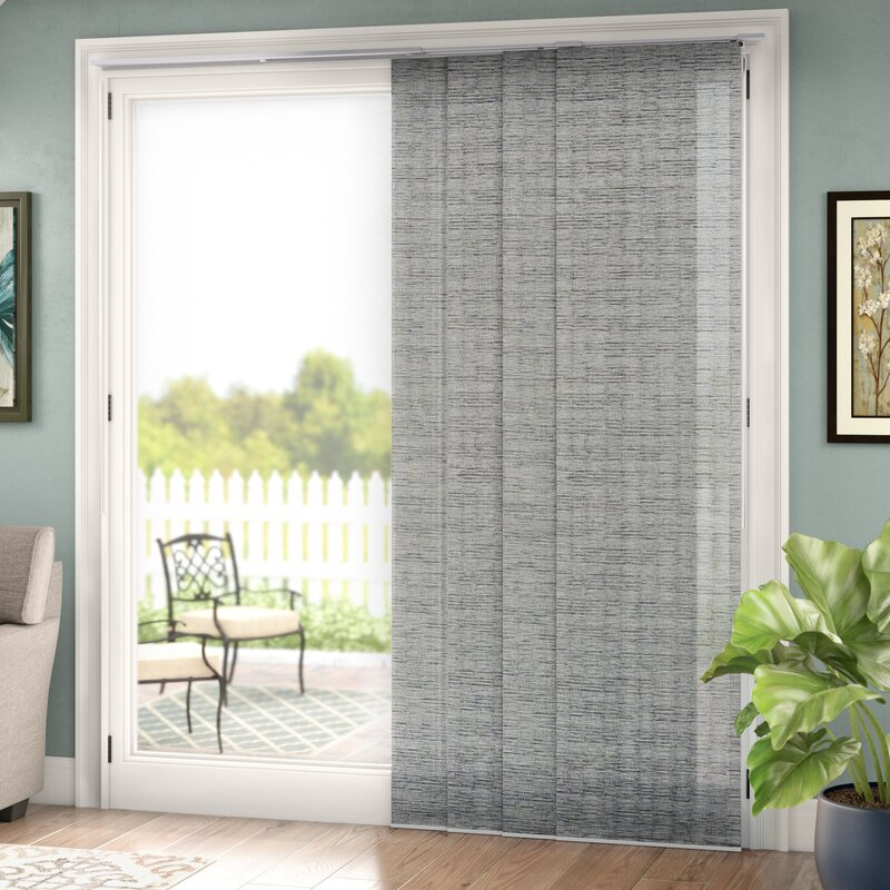 Symple Stuff Adjustable Sliding Room Darkening Munich Castle Vertical Blind Reviews Wayfair